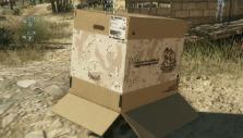 Hiding in a cardboard box in Metal Gear Solid V: The Phantom Pain