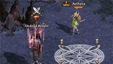 Boss fight in Record of Lodoss War Online