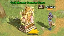 Record of Lodoss War Online: Summoning a gold monster