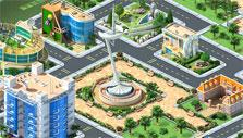 City square in Megapolis