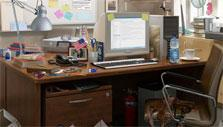 A Darker Shade of Grey: Messy office