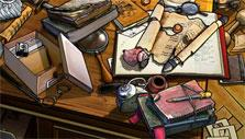 Messy desk in Mystery of Mortlake Mansion