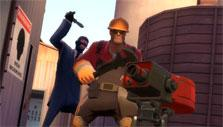 Unsuspecting victim in Team Fortress 2