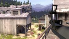 Camping with a rocket launcher in Team Fortress 2