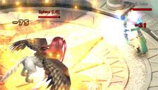 Fighting a sphinx in SAO's Legend