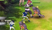 a hit combo in Naruto Online