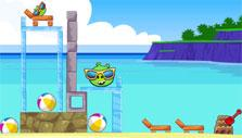 By the beach in Angry Birds Friends
