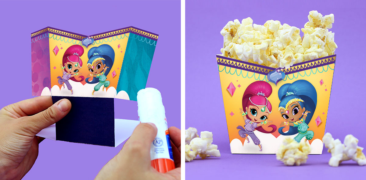 Popcorn Holder Step 3 and 4