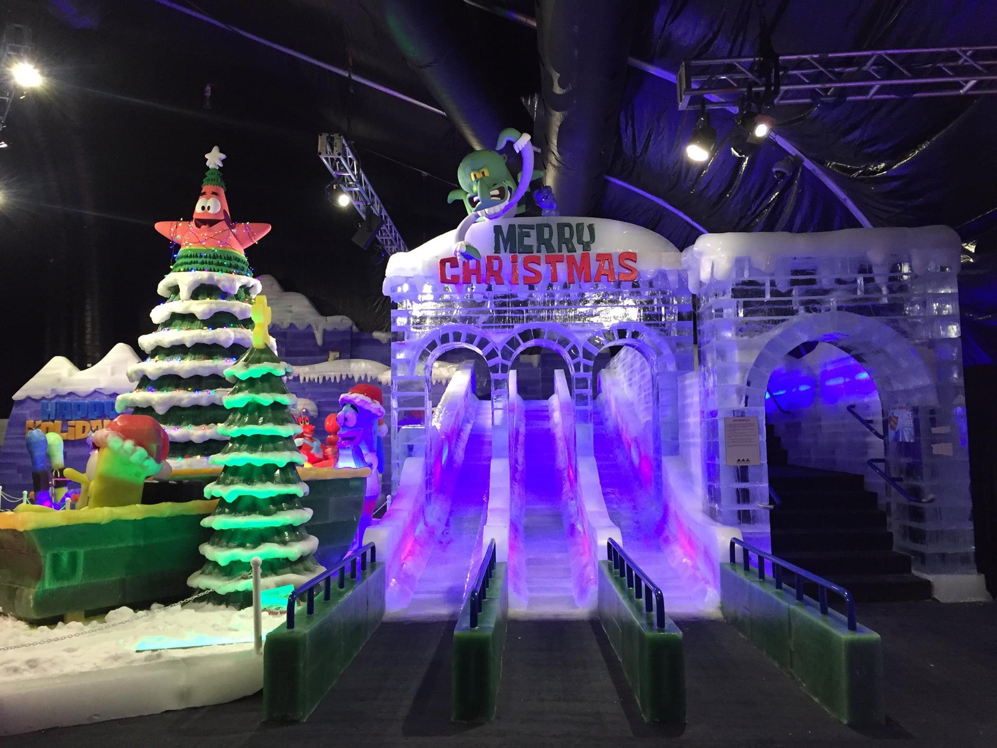 SpongeBob Iceland Christmas Slides