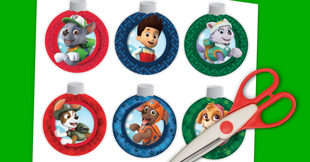 paw patrol christmas ornaments nickelodeon parents - Paw Patrol Christmas Decorations