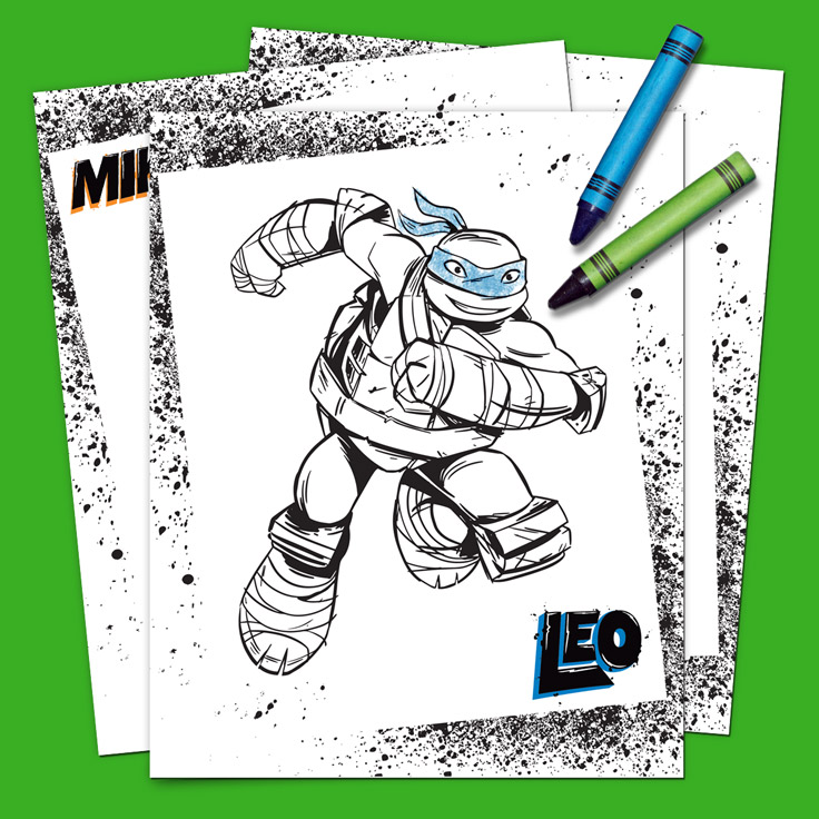 SaveSave To Pinterest TMNT Coloring Pack
