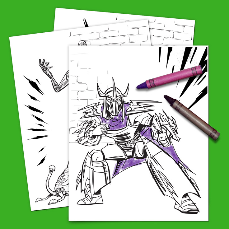 TMNT Villains Coloring Pack