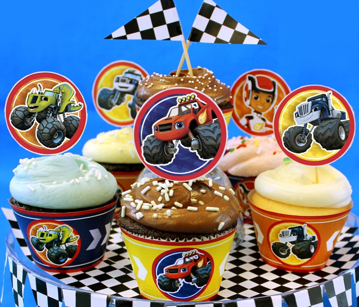 Blaze and the Monster Machines Cupcake Toppers ...