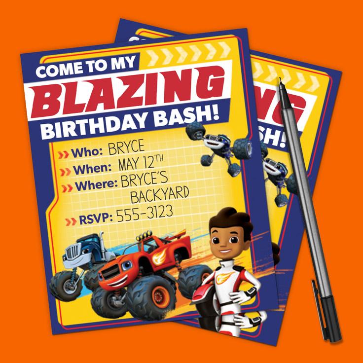 Blaze Party Invitations