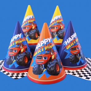 Blaze Birthday Party Hats