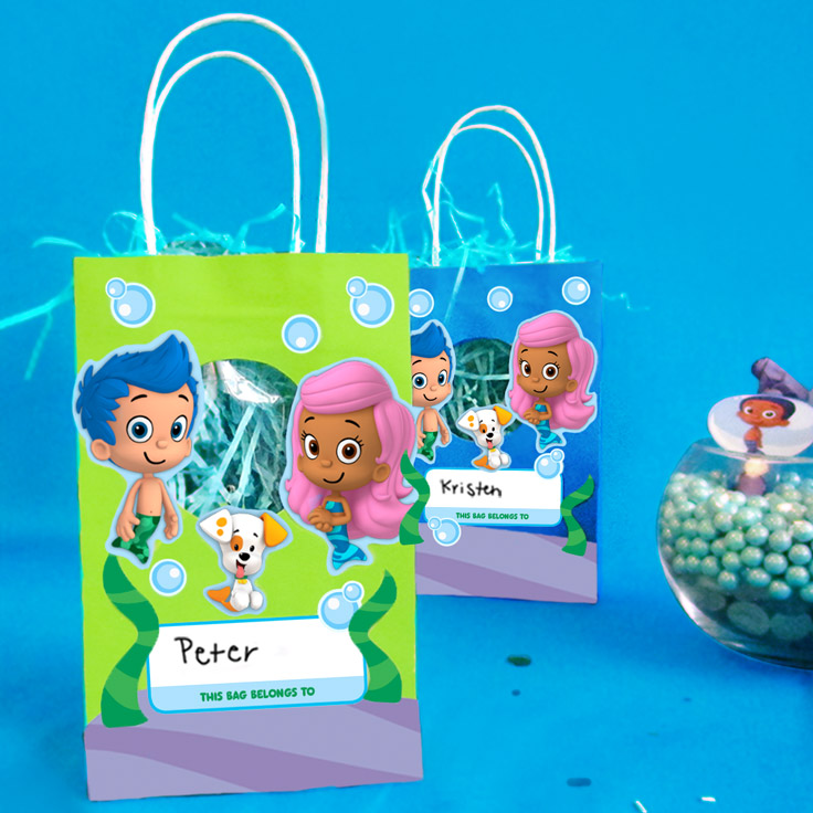 Bubble Guppies Goody Bag Stickers