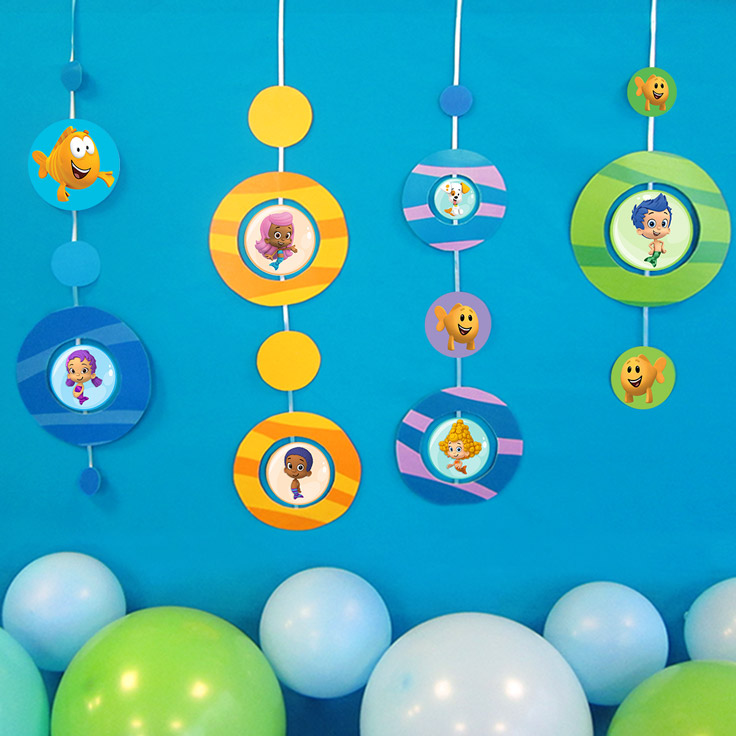 Bubble guppies birthday party nickelodeon parents bubble guppies hanging decoration bubble guppies birthday party maxwellsz