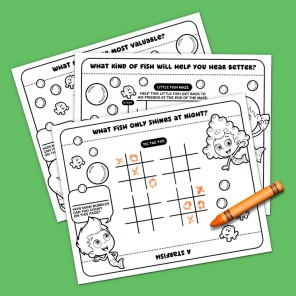 Bubble Guppies Party Placemats