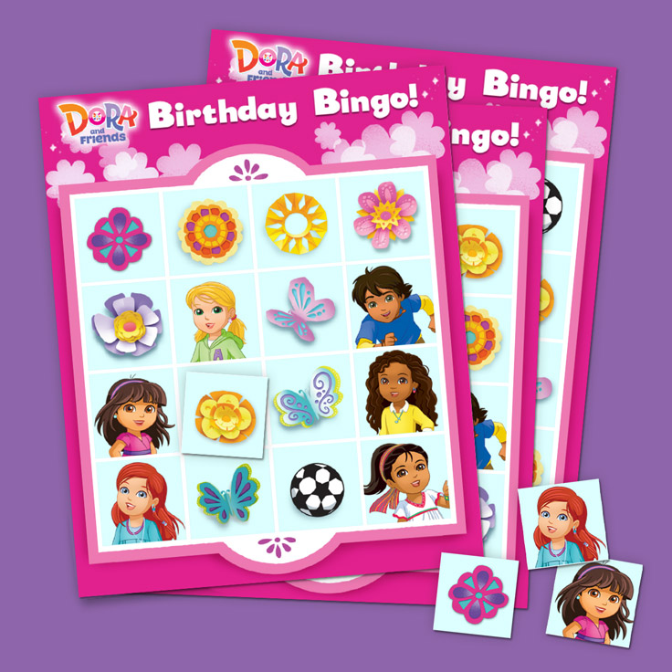 Dora and Friends Birthday Bingo