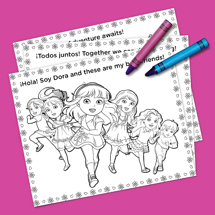 Dora and Friends Coloring Pack