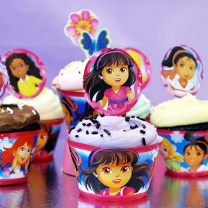 Dora and Friends Cupcake Toppers