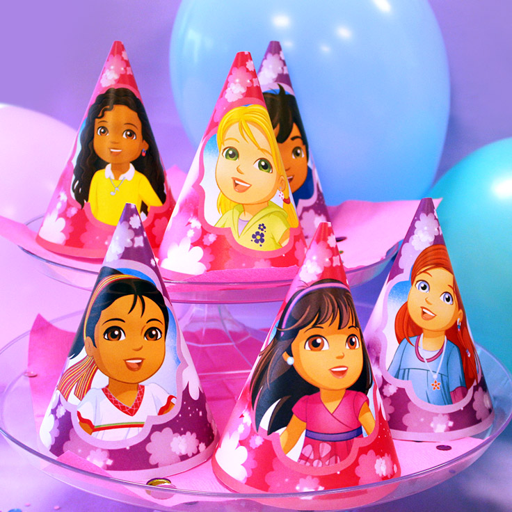 Dora and Friends Party Hats
