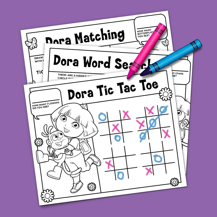 Dora Activity Placemats