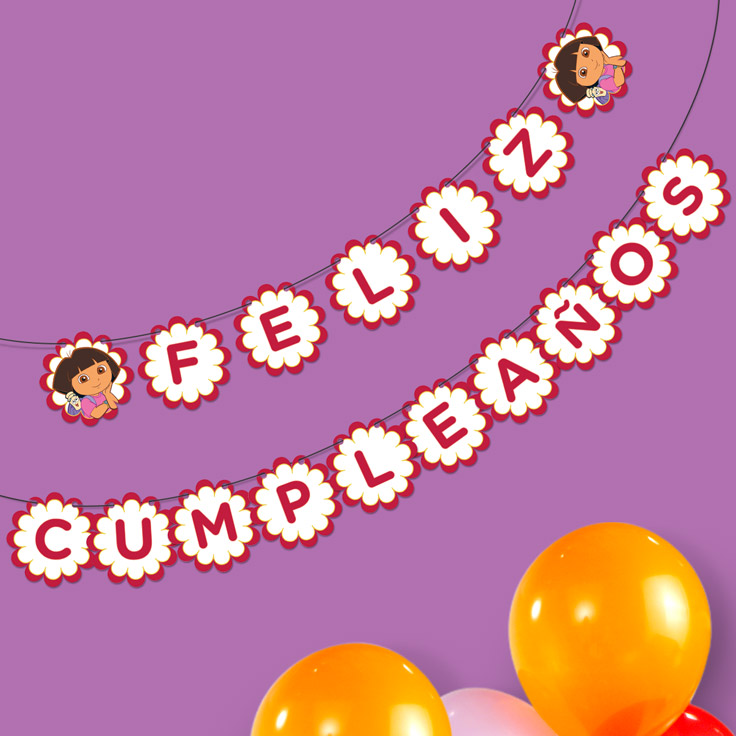 dora the explorer happy birthday banner nickelodeon parents