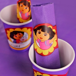 DIY Dora Napkin Rings