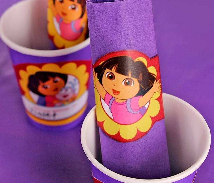 Dora The Explorer Birthday Party Napkin Rings