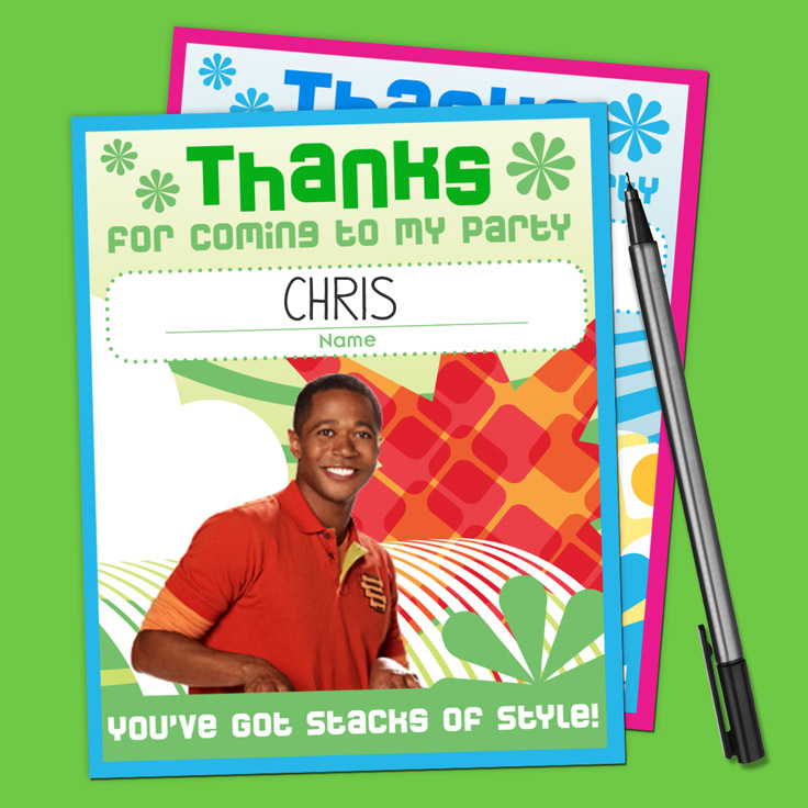 Fresh Beat Party Thank You Cards