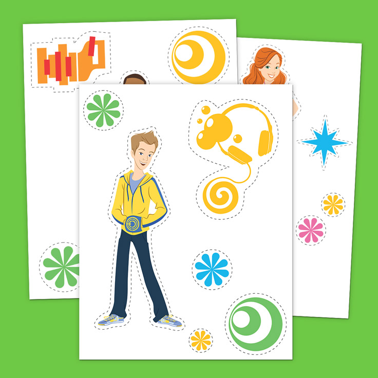 Fresh Beat Wall Stickers