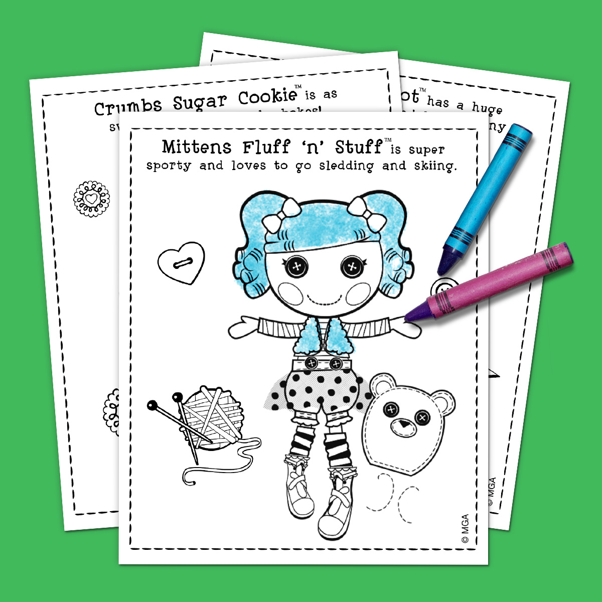 savesave to pinterest lalaloopsy coloring pack - Lalaloopsy Coloring Pages