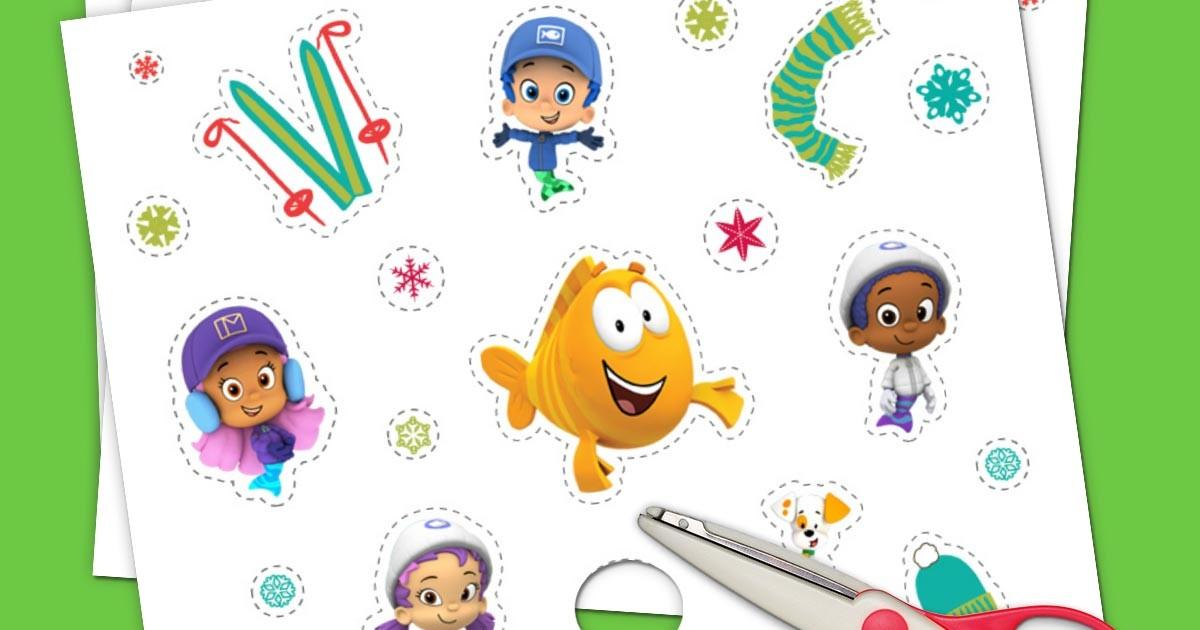 Nick Jr Winter Stickers Nickelodeon