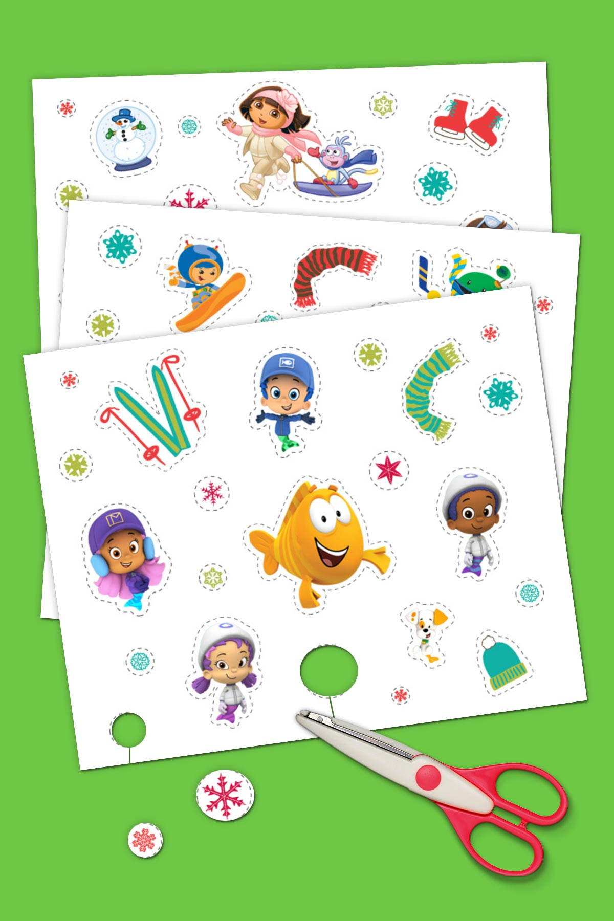 Nick Jr. Winter Stickers