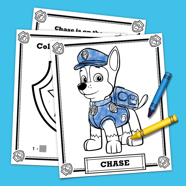 savesave to pinterest chase activity pack - Free Printable Paw Patrol Coloring Pages