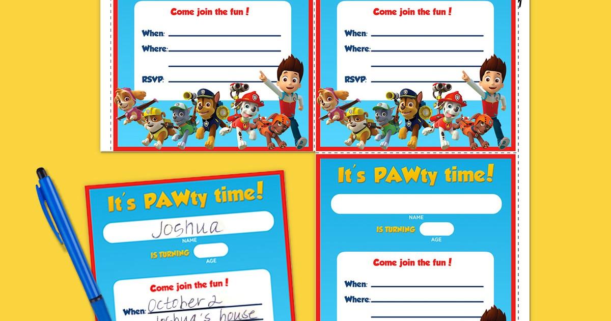 PAW Patrol Birthday Party Invitations Nickelodeon Parents