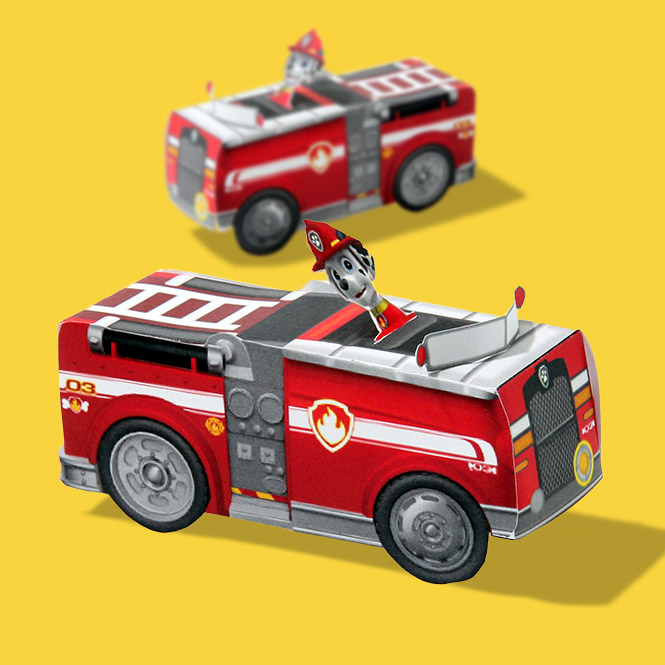 SaveSave To Pinterest Marshall Paper Vehicle Toy