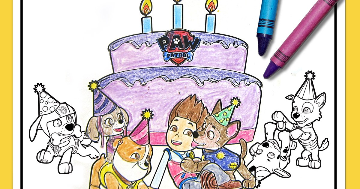 PAW Patrol Birthday Party Placemats