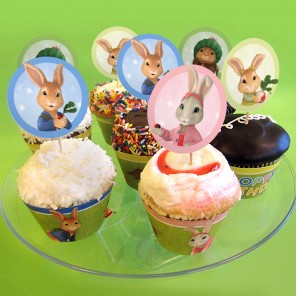 Beautiful Bunny Cupcake Toppers