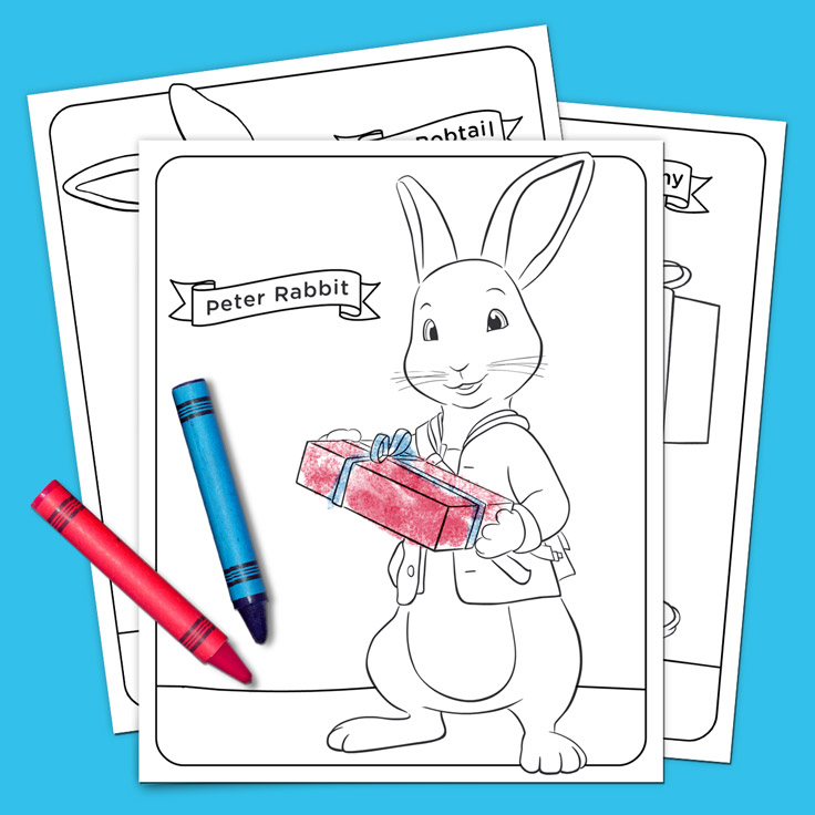peter rabbit holiday coloring pack nickelodeon parents