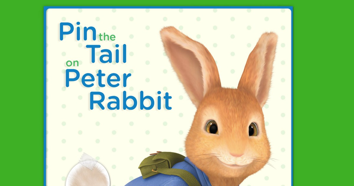 photo relating to Pin the Tail on the Bunny Printable named Pin the (Fluffy) Tail upon Peter Rabbit Nickelodeon Moms and dads