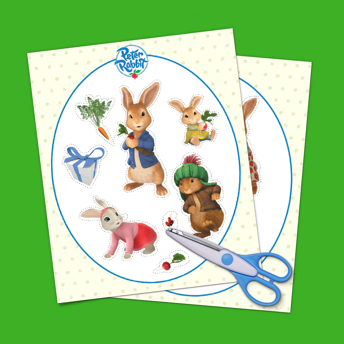 Peter Rabbit Goody Bag Stickers