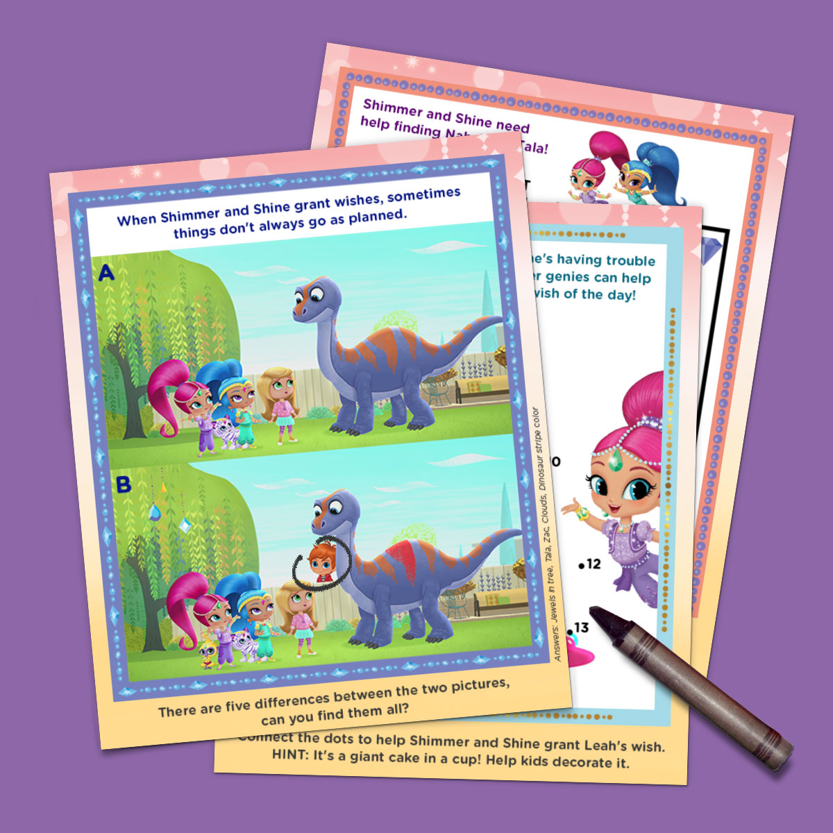 Shimmer and Shine Activity Pack
