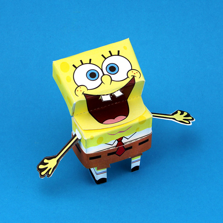 3-D SpongeBob Paper Craft