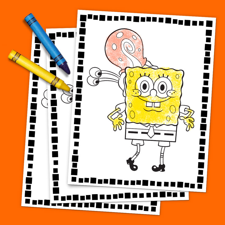 SaveSave To Pinterest Spongebob Coloring Pack