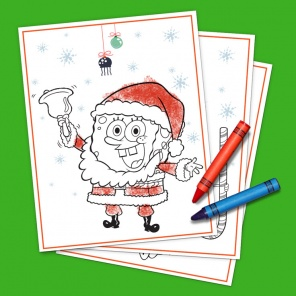 SpongeBob SantaPants Coloring Pack