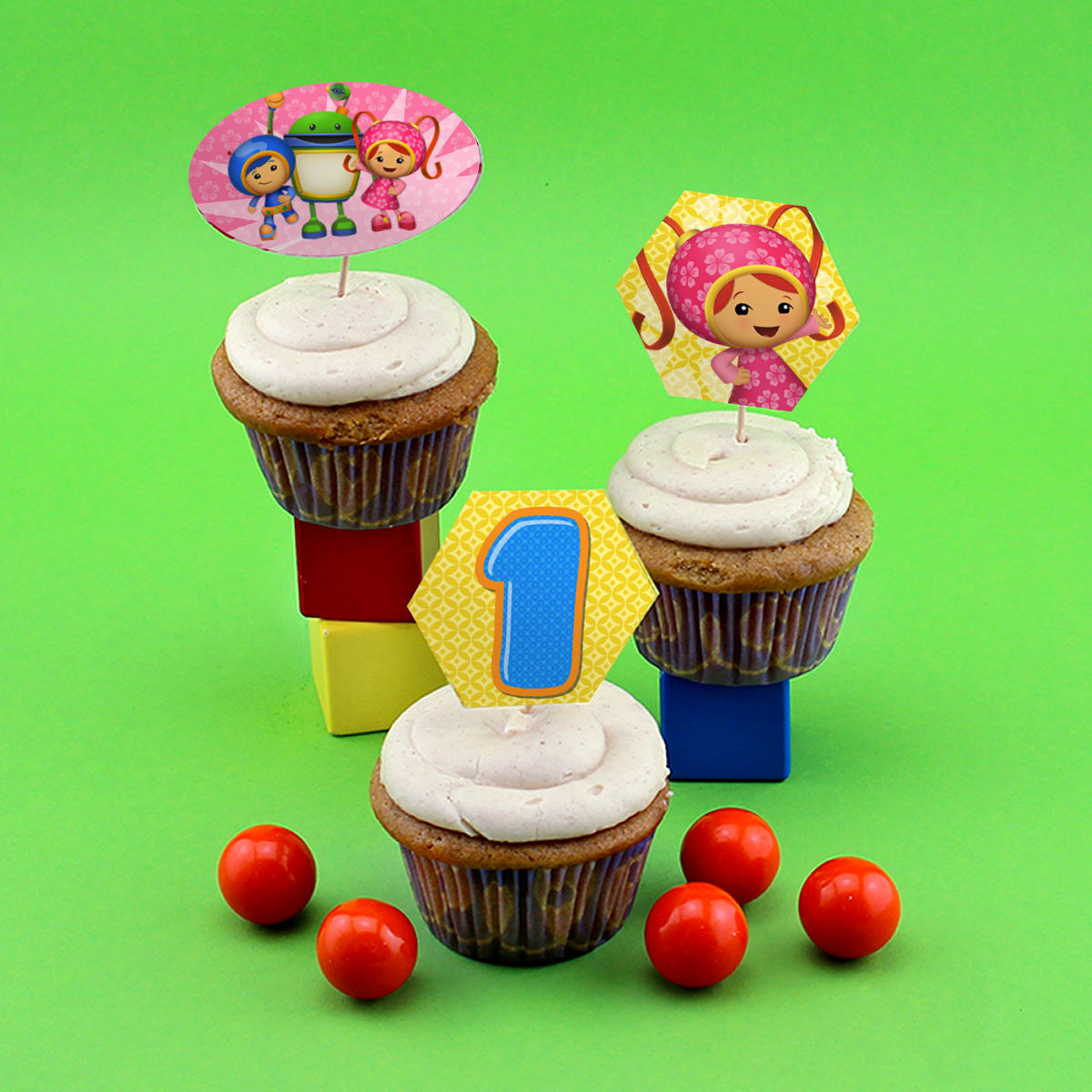 Team Umizoomi Cupcake Toppers | Nickelodeon Parents