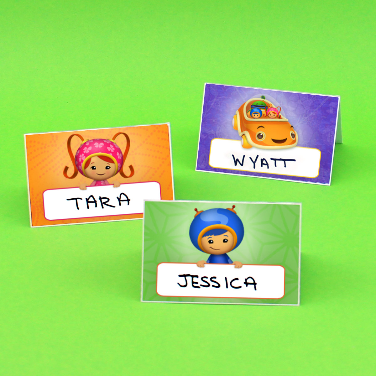 Umizoomi Place Cards