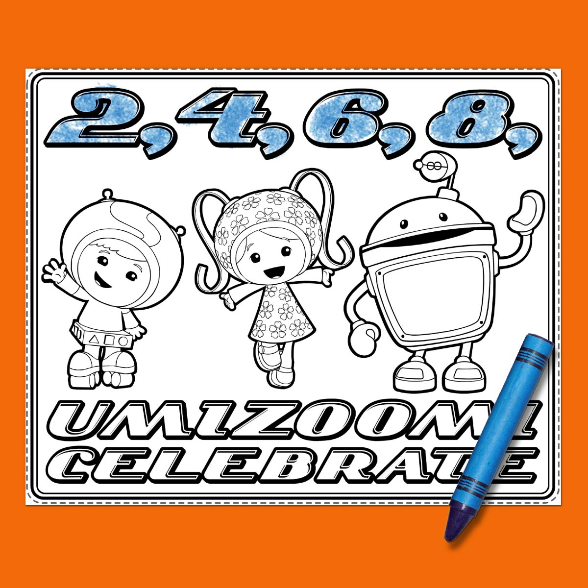 Umizoomi online coloring - Savesave To Pinterest Umizoomi Party Placemat